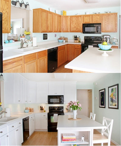 decorate on a budget by refacing cabinets