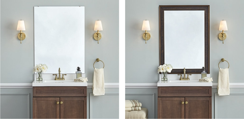 frame mirrors when decorating on a budget