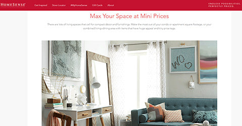 Shop HomeSense when decorating on a budget