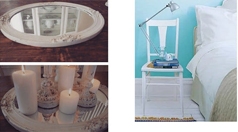 repurpose a mirror or chair when decorating on a budget