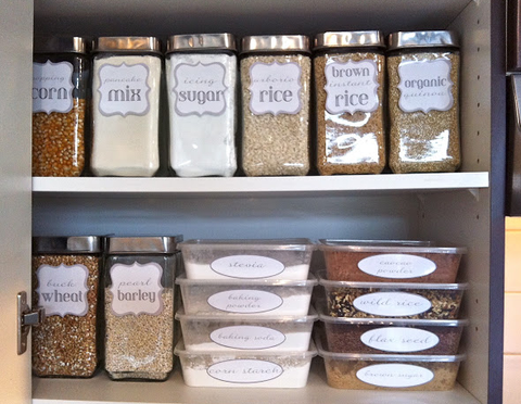 Label canisters to add character for your budget decorating project