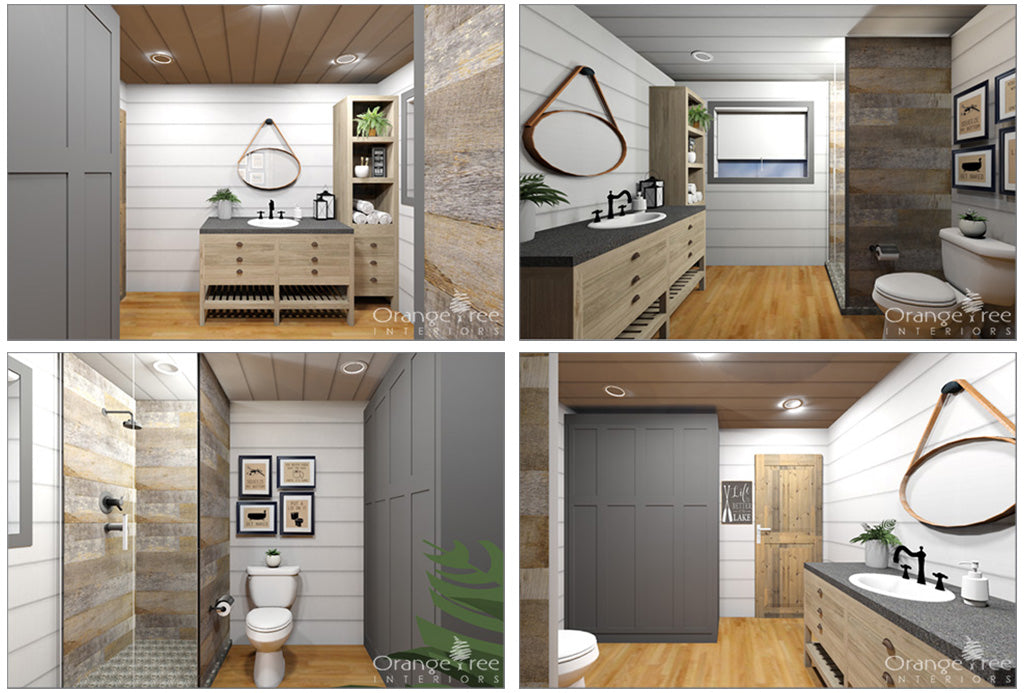 online interior design - cottage bathroom