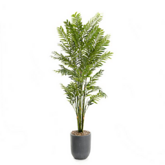 faux bamboo tree and planter