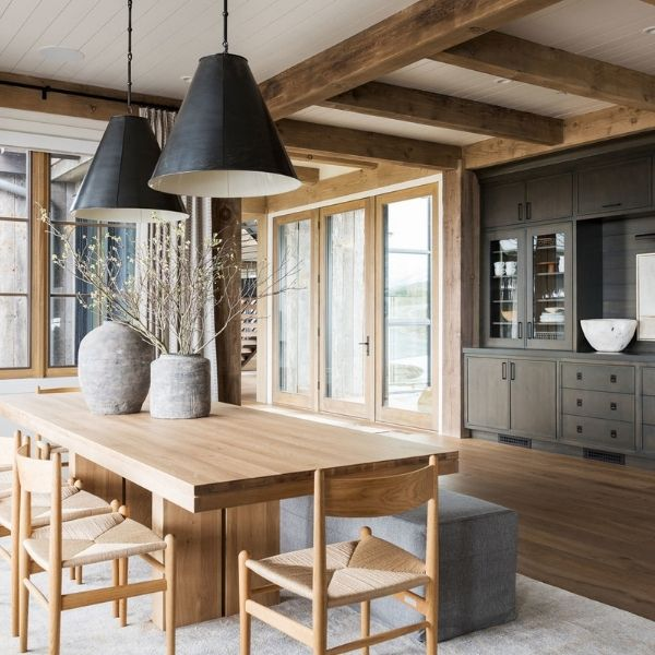 Mixing Wood Tones in a Dining Room