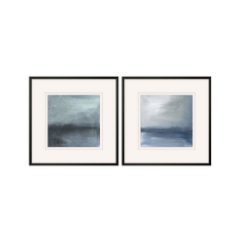 set of 2 blue abstract art
