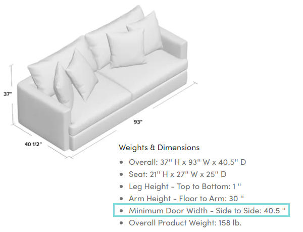 Check Furniture Dimensions When Shopping
