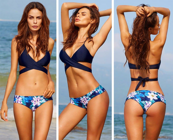 Olivia Wrap Brazilian Bikini, Wrap Around Brazilian Bikini Swimsuit - Tropic Dreams