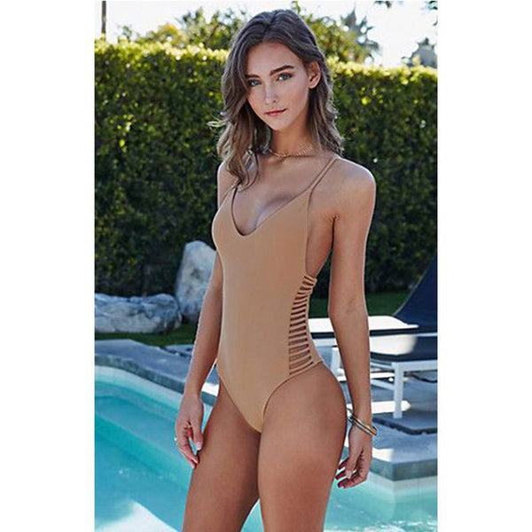 Lara Cutout One Piece Swimsuit, One Piece Cutout Swimsuit - Tropic Dreams