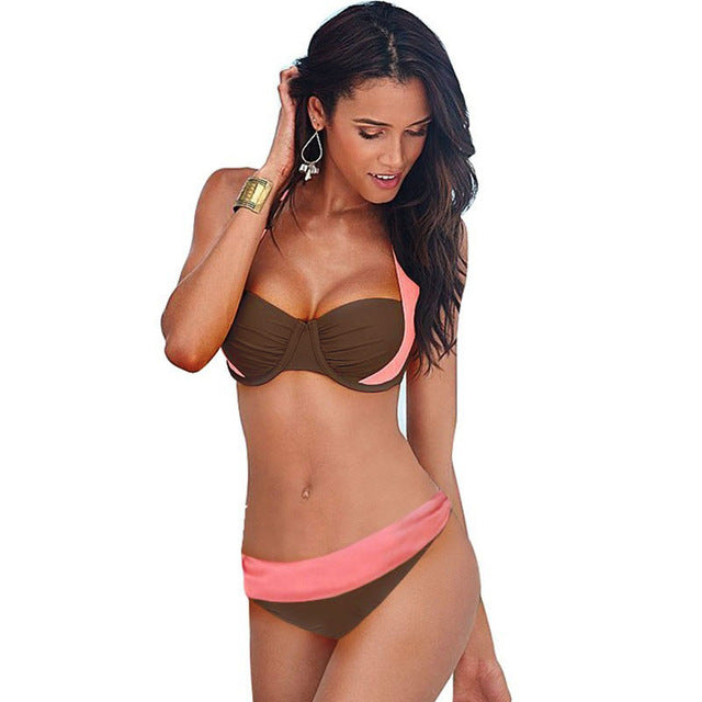 Juliette Pushup Low Waisted Brazilian Bikini, Low Rise Pushup Bikini - Tropic Dreams