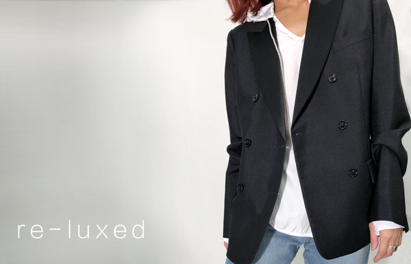 blazer jacket black womens' tuxedo max mara pre-loved designer