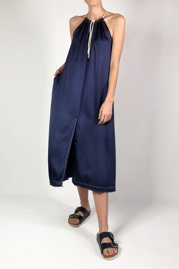 long string dress navy