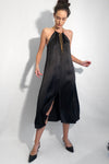 long string dress black