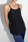 black silk satin ladies tank top camisole