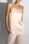 light baby pink silk satin tank camisole