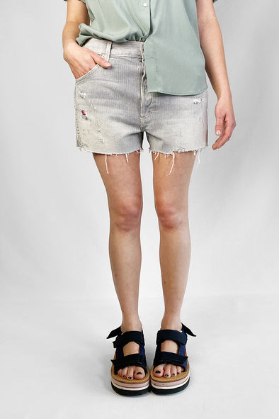 Re-luxed RL018 | AMO | stripe denim | mini shorts | 30