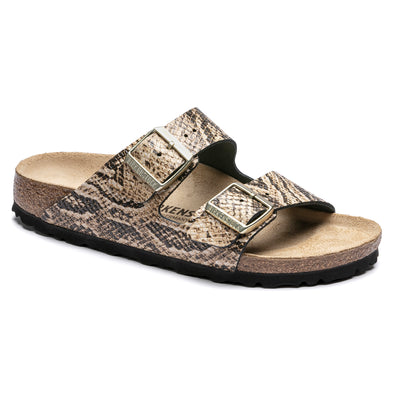 birkenstock arizona snake beige leather