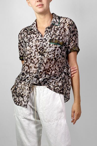 band shirt leopard