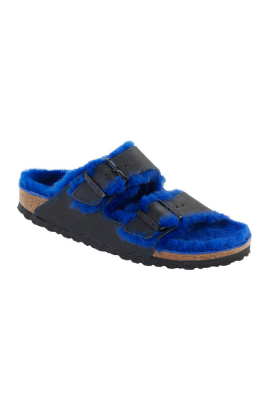 birkenstock arizona blue sheepskin