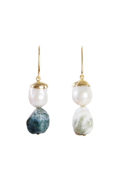 fairley baroque pearl jasper drop earrings