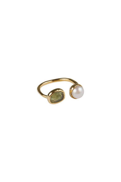 fairley pearl and green sapphire ring