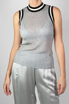 Re-Luxed | RL0378 | Rag & Bone - silver sleeveless top