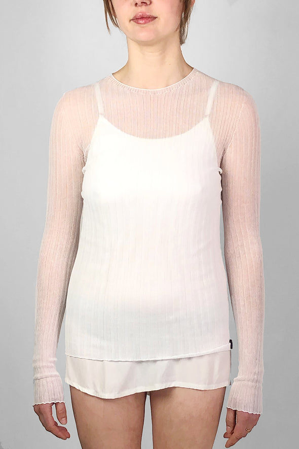 standard issue - cotton tulle crew neck