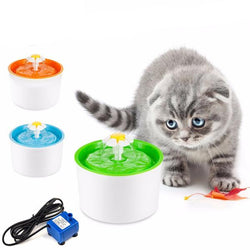 Automatic Flower Style Cat Dog Fountain