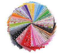 FREE 50 Pieces of Patchwork Fabric With Various Designs!!