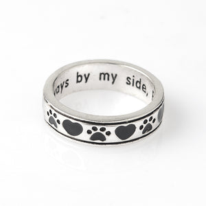 """Always by my side, Forever in my Heart"" Pet Ring"