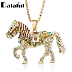 Crystal Horse Necklace