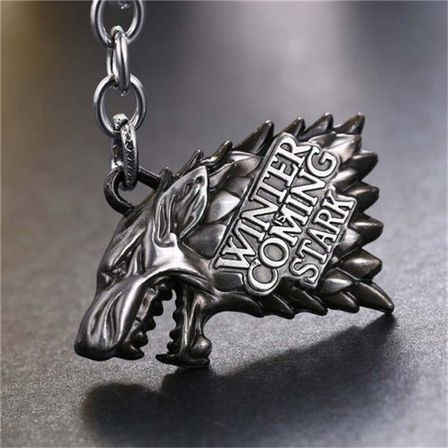 Game of thrones House Stark Key Chain