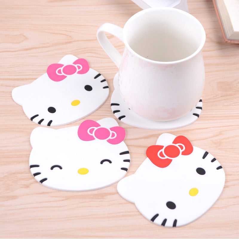 2PCS Hello Kitty cat Anti Slip Cup