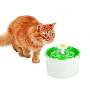 1.6L Flower Style Pet Water Drinking Fountain
