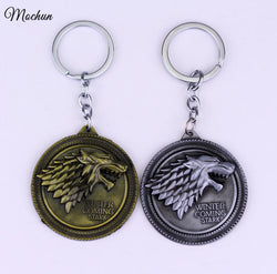 Game of Thrones Round Key Chain