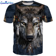 3D Men T-shirt Wolf Printed2