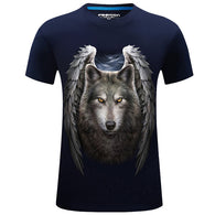 3D Men T-shirt Wolf Printed3