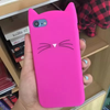 3D cat silicone case For iphone