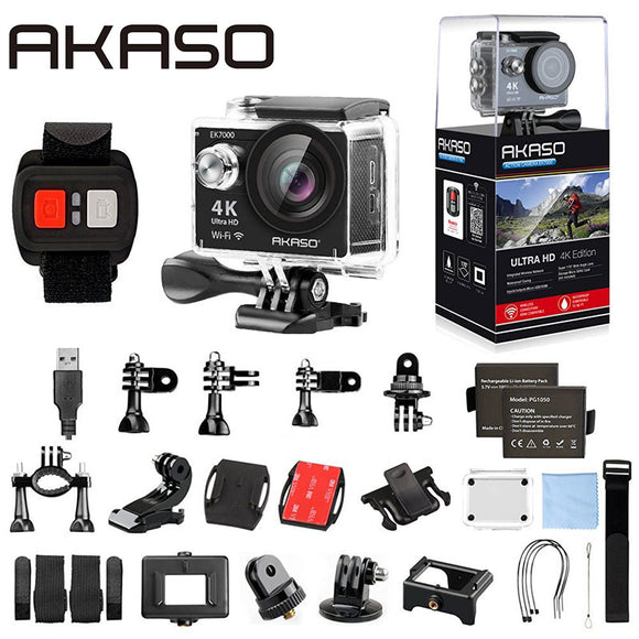 Original AKASO EK7000 4K WIFI Sports Action Camera