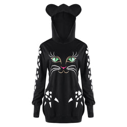 Cat Women Sweatshirt With Ears