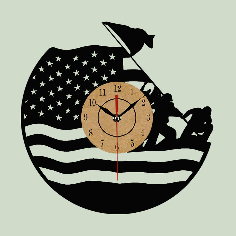 Wall clocks next vibe army vinyl wall clock for home decor amipublicfo Images