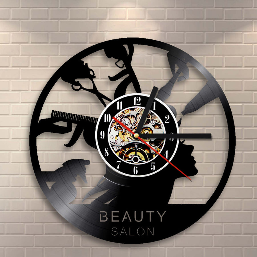 Wall clocks next vibe hairstyling vinyl wall clock for home decor amipublicfo Gallery
