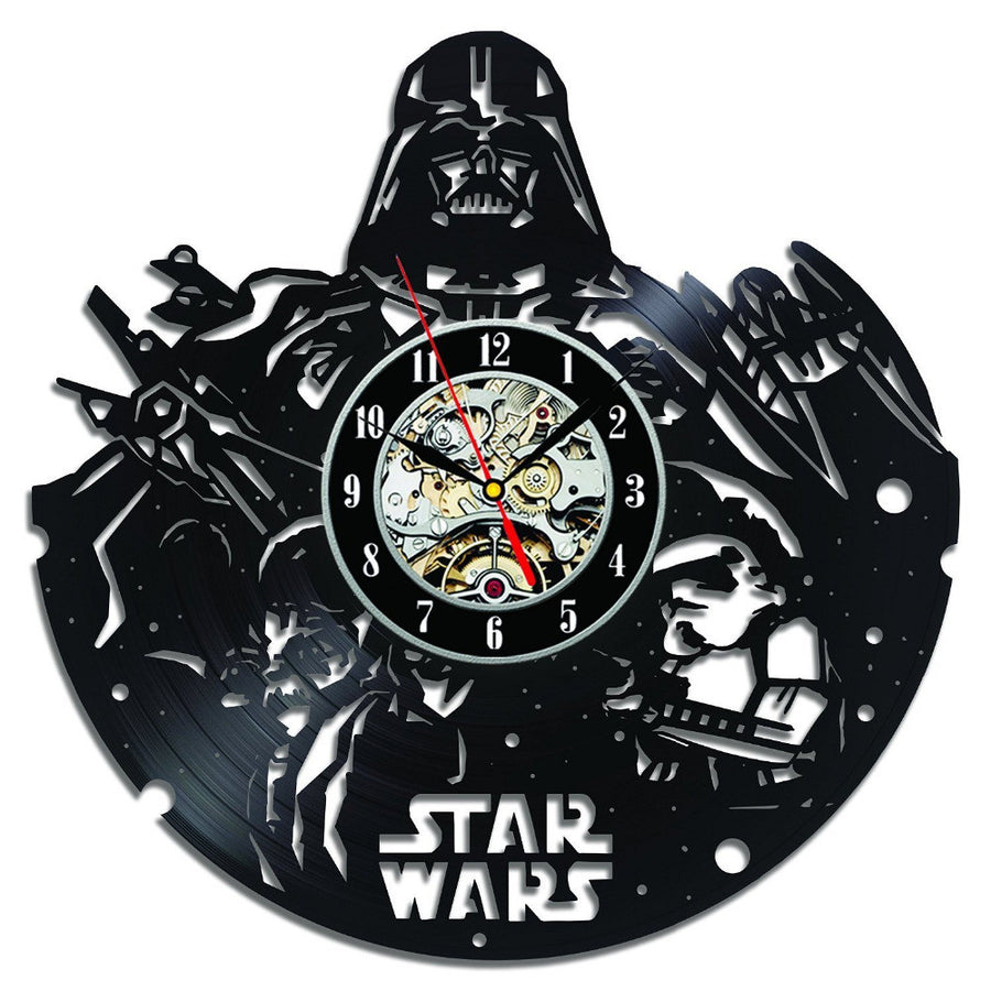 Wall clocks next vibe star wars vinyl wall clock for home decor amipublicfo Gallery