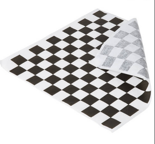 Black & White Check Sandwich/Grease Paper x 5000 Sheets