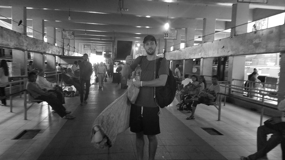 Joe Santini in the Colombo Central Bus Station