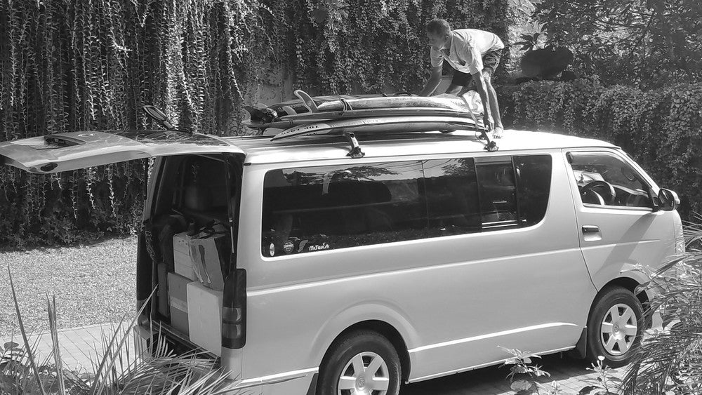 Van with Surf Board Racks in Arugam Bay