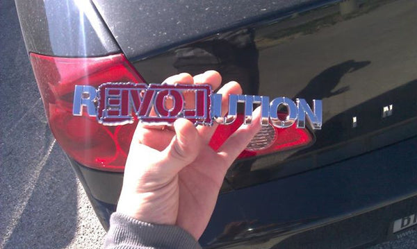Ron Paul Revolution Chrome Car Emblem