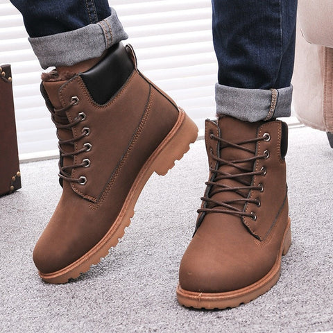 Men Winter PU Snow boots Shoes - GrandTrends