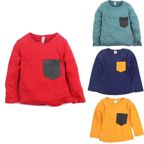Cotton Long Sleeve T-Shirts Boys Girls Clothes - GrandTrends