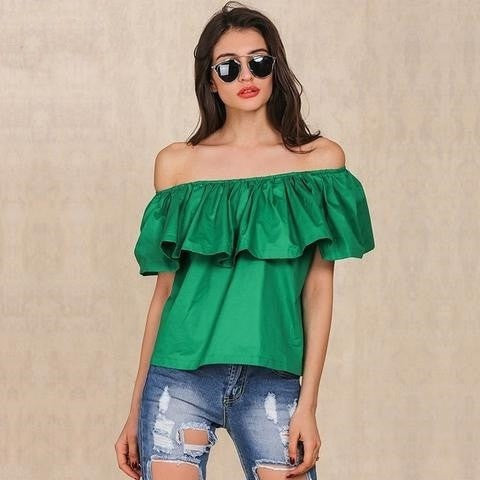 Simplee Off shoulder Neck women tops - GrandTrends