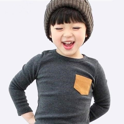 Soft Boys T Shirt Candy Color Long Sleeve - GrandTrends